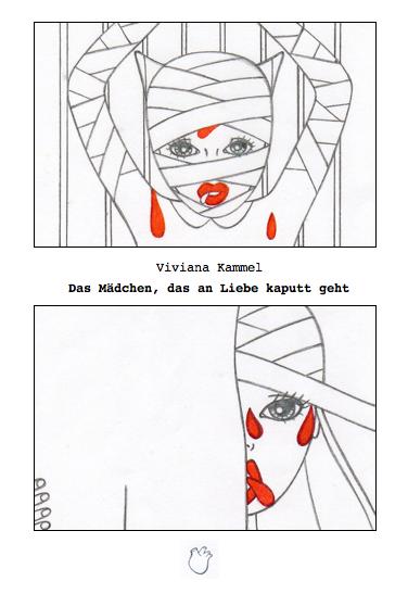 """""""Das Mädchen, das an Liebe kaputt geht"""", Cover, Viviana Kammel, 2013"""